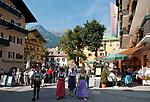 Oesterreich, Salzburger Land, Pongau, Gasteinertal, Kurort Bad Hofgastein: Ortszentrum | Austria, Salzburger Land, Gasteiner Valley, health resort Bad Hofgastein: village centre