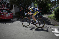 Christophe Noppe (BEL/Sport Vlaanderen Baloise) up the Mur de Huy. <br /> <br /> Baloise Belgium Tour 2018<br /> Stage 4:  Wanze - Wanze 147.3km