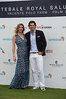 WELLINGTON, FL - MAY 04: Delfina Blaquier, Nacho Figueras participates in the Sentebale Polo Cup Presented By Royal Salute World Polo and held at Valiente Polo Farm In Wellington Florida on May 4, 2016 in Wellington, Florida.<br /> <br /> People:  Delfina Blaquier, Nacho Figueras
