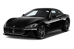2018 Maserati GranTurismo Sport 2 Door Coupe angular front stock photos of front three quarter view