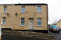 Pictured: The house where the killing happened in Aberdare. Tuesday 19 December 2017<br /> Re: Natasha Jex (also known as Natasha Smith) has killed her husband Neil Jex (also known as Neal Jex) at their house in Aberdare, Wales, UK.