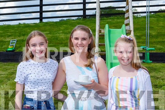 Aoibhe Mairead and Kayleigh OSullivan enjoying coffee morning in aid of the Pallative Care Tralee in Susan O'Sullivan's house Kilcummin on Monday