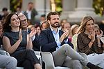 Pablo Casado and  Isabel Diaz Ayuso in the presentation of the Partido Popular program<br />  October 13, 2019. <br /> (ALTERPHOTOS/David Jar)