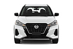 Car photography straight front view of a 2021 Nissan Kicks - 5 Door SUV Front View