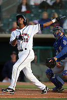May 9, 2010: Ebert Rosario of the Lancaster JetHawks during game against the Inland Empire 66'ers at Clear Channel Stadium in Lancaster,CA.  Photo by Larry Goren/Four Seam Images