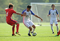 Portland, OR - Wednesday August 09, 2017: Alex Mendez during friendly match between the USMNT U17's and Chile u17's at Nike World Headquarters in Portland, OR.