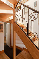 BNPS.co.uk (01202) 558833. <br /> Pic: UniquePropertyCompany/BNPS<br /> <br /> Pictured: Feature staircase. <br /> <br /> Haus proud...<br /> <br /> A house designed in German Bavarian style in the south London commuter belt is on the market for £1.1m.<br /> <br /> Holly Lodge, a former pheasant shooting lodge and coaching inn, belonged to an engineer who fell in love with German architecture when he worked in the country.<br /> <br /> He bought and completely redesigned the building in the 1980s.<br /> <br /> The property, which is in the borough of Bromley, has four bedrooms, two bathrooms and two reception rooms.