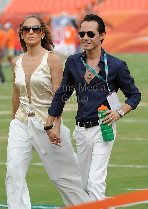 """SMG_Jennifer Lopez_Marc Anthony_Break Up_071811_72.JPG<br /> <br /> MIAMI BEACH, FL - JULY 16: (Us Weekly) Jenny's back on the singles block.  After seven years of marriage, Jennifer Lopez and Marc Anthony have split, their rep tells Us Weekly. """"We have decided to end our marriage. This was a very difficult decision. We have come to an amicable conclusion on all matters,"""" they said in a statement. """"It is a painful time for all involved, and we appreciate the respect of our privacy at this time. The couple are parents to three-year-old twins Max and Emme.  Crooner Anthony, 42, was conspicuously absent at Saturday's star-packed BAFTA Brits to Watch bash in L.A., where wife Lopez, 40, met Prince William and Duchess Kate with mom Guadalupe as her date.<br /> Friends for years, Lopez and Anthony dated briefly in the 1990s. They stepped out again as a couple in early 2004, shortly after Lopez's broken engagement from Ben Affleck, and in the midst of Anthony's divorce from first wife, former Miss Universe Dayanara Torres. They wed at a quiet home wedding in June 2004.<br /> Just last year, they renewed their wedding vows for their sixth anniversary at their Hidden Hills, Calif. estate June 5. """"We realized the bets in Vegas [on whether we'd make it] stopped at five years,"""" Anthony joked to Us at the time.   And as recently as January, singer, actress and American Idol judge Lopez gushed on the Ellen DeGeneres Show about being a parent with Anthony. """"As soon as I had the babies, I thought to myself, 'I want to do this a thousand more times...I love this. This is life.""""<br /> Anthony and first wife Torres share sons Cristin, 10, and Ryan, 7. Lopez (who famously dated Sean Combs in addition to Affleck), had been married twice before: to restauranteur Ojani Noa (they split in 1998) and former backup dancer Cris Judd, to whom she was married from 2001 to 2003.. On July 16, 2011 in Miami Beach, Florida,  (Photo By Storms Media Group)<br />  <br /> People:   Jennifer Lopez_Marc An"""
