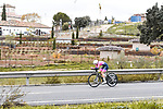 Valcar–Travel & Service rider in action during Stage 2 of the CERATIZIT Challenge by La Vuelta 2020, an individual time trial running 9.3km around Boadilla del Monte, Spain. 6th November 2020.<br /> Picture: Antonio Baixauli López/BaixauliStudio | Cyclefile<br /> <br /> All photos usage must carry mandatory copyright credit (© Cyclefile | Antonio Baixauli López/BaixauliStudio)