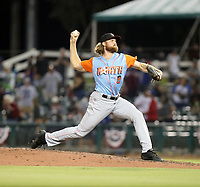 Kyle Wilcox participates in the 2019 California League All-Star Game at San Manuel Stadium on June 18, 2019 in San Bernardino, California (Bill Mitchell)