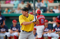 Bradenton Marauders Casey Hughston (17) during the Home Run Derby before the Florida State League All-Star Game on June 17, 2017 at Joker Marchant Stadium in Lakeland, Florida.  FSL North All-Stars defeated the FSL South All-Stars  5-2.  (Mike Janes/Four Seam Images)