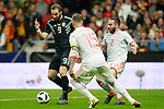 Spain's Sergio Ramos (c) and Daniel Carvajal (r) and Argentina's Gonzalo Pipita Higuain during international friendly match. March 27,2018.(ALTERPHOTOS/Acero)