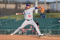 Tim Atherton #26 of the Stockton Ports pitches against the Lancaster JetHawks at The Hanger on June 24, 2014 in Lancaster, California. Stockton defeated Lancaster, 6-4. (Larry Goren/Four Seam Images)