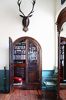 wooden duble door