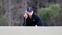 PINEHURST, NC - MARCH 02: Clay Stirsman of Wake Forest University lines up a putt on the fifth hole at Pinehurst No. 2 on March 02, 2021 in Pinehurst, North Carolina.