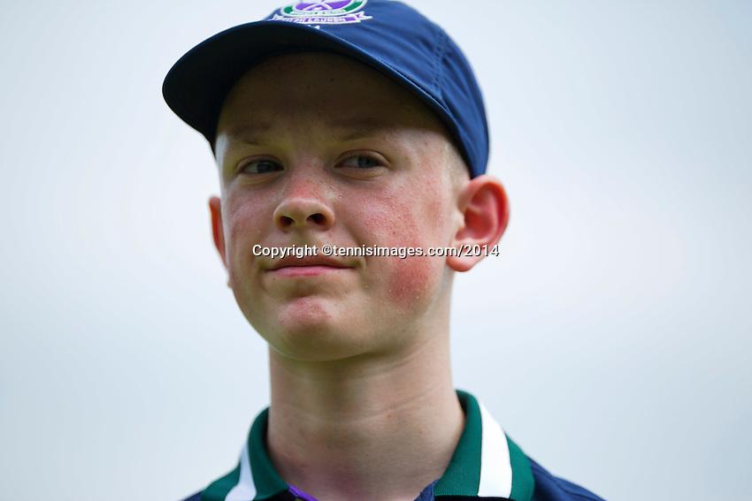 England, London, 23.06.2014. Tennis, Wimbledon, Ballboy<br /> Photo:Tennisimages/Henk Koster