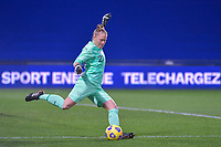Swiss Goalkeeper Seraina Friedli (21) pictured during the 2nd Womens International Friendly game between France and Switzerland at Stade Saint-Symphorien in Longeville-lès-Metz, France.