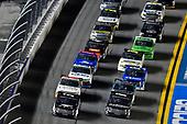#51: Riley Herbst, Kyle Busch Motorsports, Toyota Tundra Mobil 1 and #18: Christian Eckes, Kyle Busch Motorsports, Toyota Tundra Safelite AutoGlass