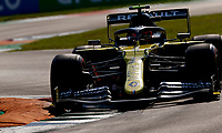 4th September 2020; Autodromo Nazionale Monza, Monza, Italy ; Formula 1 Grand Prix of Italy, free practise sessions;  31 Esteban Ocon FRA, Renault DP World F1 Team over the curbs