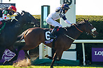 November 7, 2020 : Glass Slippers, ridden by Tom Eaves, wins the Turf Sprint on Breeders' Cup Championship Saturday at Keeneland Race Course in Lexington, Kentucky on November 7, 2020. Leah Vasquez/Breeders' Cup/Eclipse Sportswire/CSM