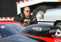 Oct 2, 2020; Madison, Illinois, USA; NHRA mountain motor pro stock driver Brad Waddle during qualifying for the Midwest Nationals at World Wide Technology Raceway. Mandatory Credit: Mark J. Rebilas-USA TODAY Sports