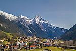 Town of Pettneu am Arlberg, east of St Anton, Austria.