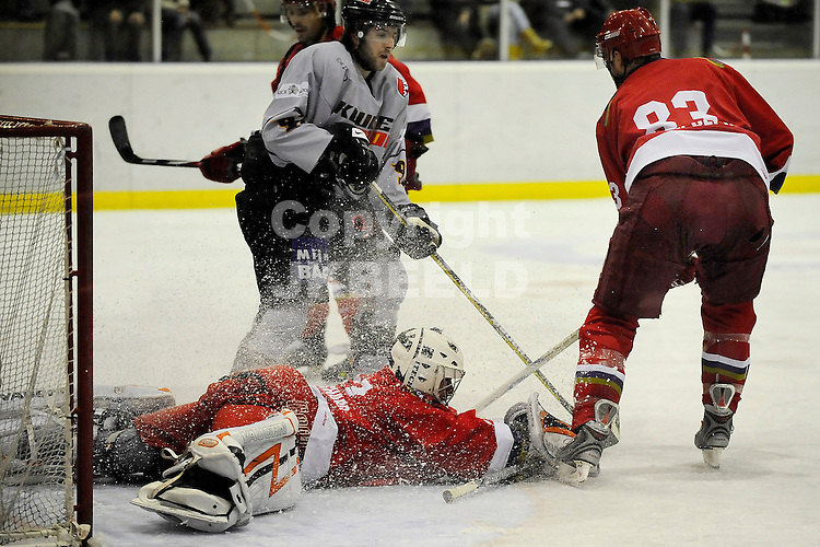 ijshockey grzzlies - amstel tigers seizoen 2008-2009 08-02-2009  redding mathieu blanchard.
