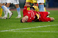 Hellas Verona s goalkeeper Marco Silvestri lies on the pitch after being injured during the Serie A soccer match between Lazio and Hellas Verona at Rome's Olympic Stadium, December 12, 2020.<br /> UPDATE IMAGES PRESS/Riccardo De Luca