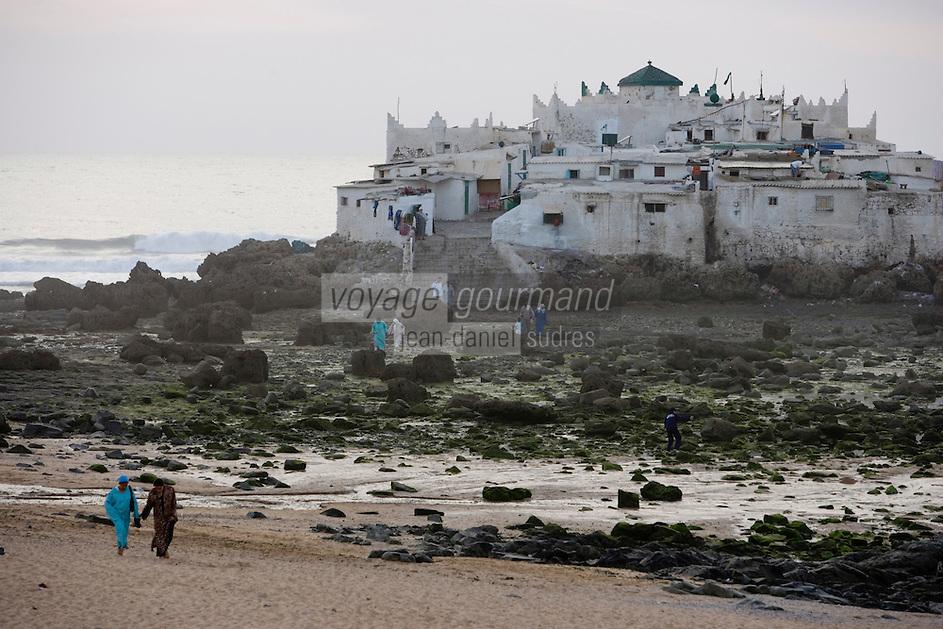 Afrique/Afrique du Nord/Maroc /Casablanca: la Corniche - le Marabout de Sidi Abd Er-Rahman ensemble detombeaux qui accueille les pélerins