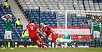 Johnny Hayes celebrates hias winning goal for Aberdeen