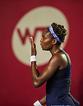 Venus Williams of USA vs Alize Cornet of France during the WTA Prudential Hong Kong Tennis Open at the Victoria Pack Stadium on 16 October 2015 in Hong Kong, China. Photo by Aitor Alcalde / Power Sport Images