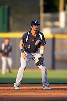 Pensacola Blue Wahoos shortstop Juan Perez (2) during a game against the Mississippi Braves on May 27, 2015 at Trustmark Park in Pearl, Mississippi.  Pensacola defeated Mississippi 7-5 in fourteen innings.  (Mike Janes/Four Seam Images)