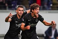 celebrate the goal, Torjubel zum 1:1 Sam Lammers (Eintracht Frankfurt) mit Rafael Santos Borre (Eintracht Frankfurt) - Frankfurt 16.09.2021: Eintracht Frankfurt vs. Fenerbahce Istanbul, Deutsche Bank Park, 1. Spieltag UEFA Europa League