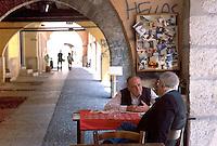 - Verona, ancient tavern in  Portici Sottoripa....- Verona, antica osteria in Portici Sottoripa