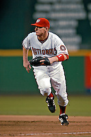 20 July 2007: Washington Nationals infielder Robert Fick in action against the Colorado Rockies at RFK Stadium in Washington, DC. The Rockies defeated the Nationals 3-1 in the second game of their 4-game series...Mandatory Photo Credit: Ed Wolfstein Photo
