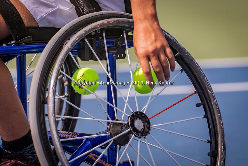 Amstelveen, Netherlands, 19 Augustus, 2020, National Tennis Center, NTC, NKR, National  Junior Wheelchair Tennis Championships, <br /> Photo: Henk Koster/tennisimages.com