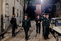 Actors playing the roles of policemen during filming of 'Oyle Bir Gecer Zaman Ki' (As Time Goes By), one of the most loved and most watched Turkish Soap Operas in the Middle East and North Africa.