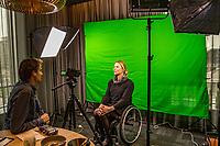 Rotterdam, The Netherlands, 10 Januari 2019, ABNAMRO World Tennis Tournament, Pressconference, Wheelchair Tournament Director Esther Vergeer is being interview by Jan Willem de Lange<br /> Photo: www.tennisimages.com/Henk Koster