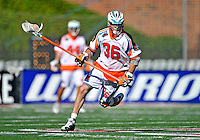 23 August 2008: Los Angeles Riptide Defenseman D. J. Driscoll in action against the Denver Outlaws during the Semi-Finals of the Major League Lacrosse Championship Weekend at Harvard Stadium in Boston, MA. The Outlaws edged out the Riptide 13-12, advancing to the upcoming Championship Game.. .Mandatory Photo Credit: Ed Wolfstein Photo