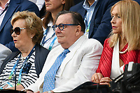 January 2, 2020: Australian comedian Barry Humphries watching the Men's Singles Final match between 2nd seed NOVAK DJOKOVIC (SRB) and 5th seed DOMINIC THIEM (AUT) on Rod Laver Arena in the  on day 14 of the Australian Open 2020 in Melbourne, Australia. Photo Sydney Low