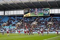 Photo: Richard Lane/Richard Lane Photography. Wasps v Northampton Saints. Gallagher Premiership. 06/01/2019. Ricoh rugby action lineout.