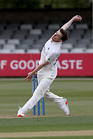 Matt Salisbury of Durham in bowling action during Essex CCC vs Durham CCC, LV Insurance County Championship Group 1 Cricket at The Cloudfm County Ground on 15th April 2021