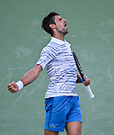 August  13, 2019:  Novak Djokovic (SRB) defeated Sam Querrey (USA) 7-5, 6-1, at the Western & Southern Open being played at Lindner Family Tennis Center in Mason, Ohio. ©Leslie Billman/Tennisclix/CSM