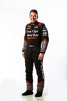 Feb 8, 2018; Pomona, CA, USA; NHRA top fuel driver Clay Millican poses for a portrait during media day at Auto Club Raceway at Pomona. Mandatory Credit: Mark J. Rebilas-USA TODAY Sports