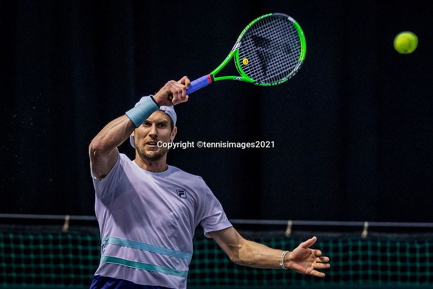 Rotterdam, The Netherlands, 28 Februari 2021, ABNAMRO World Tennis Tournament, Ahoy, Qualyfying match:     Andreas Seppi (ITA)<br /> Photo: www.tennisimages.com/henkkoster