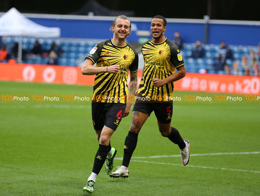 Ben Wilmot of Watford celebrates his goal during Queens Park Rangers vs Watford, Sky Bet EFL Championship Football at The Kiyan Prince Foundation Stadium on 21st November 2020