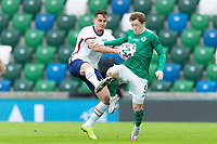 BELFAST, NORTHERN IRELAND - MARCH 28: Aaron Long #3 of the United States during a game between Northern Ireland and USMNT at Windsor Park on March 28, 2021 in Belfast, Northern Ireland.