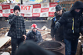 Pro EU Demonstrationen in Kiew, Stimmung in Kiew nach Tagen der Proteste 05.12.2013 /  Pro European demonstrations in Kiev