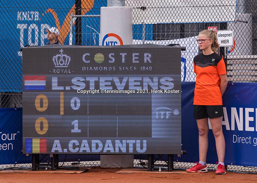 Amstelveen, Netherlands, 6 Juli, 2021, National Tennis Center, NTC, Amstelveen Womans Open, Scoreboard<br /> Photo: Henk Koster/tennisimages.com