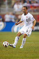 7 June 2011: USA Men's National Team defender Steve Cherundolo (6) during the CONCACAF soccer match between USA and Canada at Ford Field Detroit, Michigan. USA won 2-0.